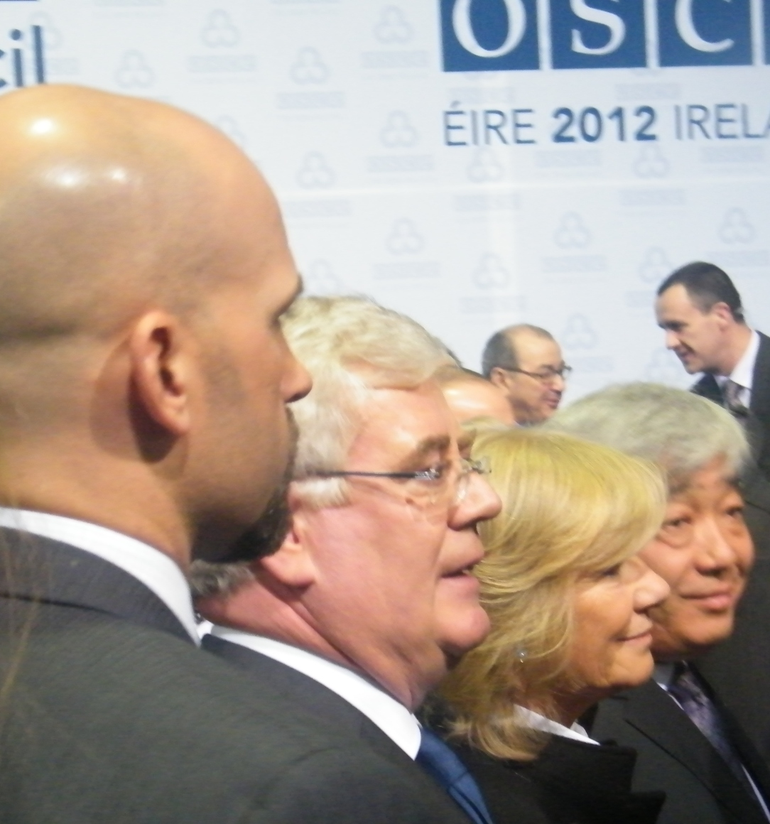 Eamon Gilmore and colleagues. Photo:Martha Gberevbie