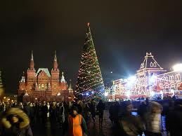 St. Peterburg Square at Christmas