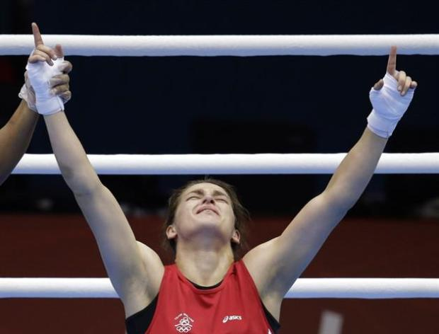 Katie captured the hearts of the nation after defeating Sofya Ochigava 10-8 The London 2012 Olympic Games.