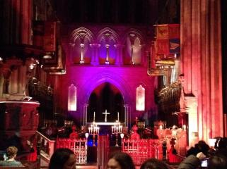 The altar of St Patrick's cathedral for 'Dracula in the Cathedral', Saturday 26 October 2013. © Diarmaid Murray