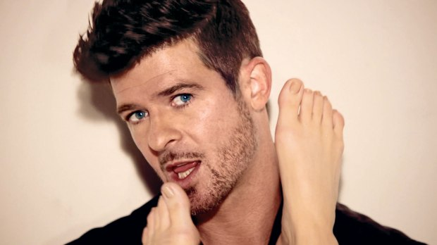 A still of Robin Thicke in the 'Blurred Lines' video. Copyright Diane Martel 2013.