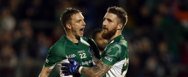 Munnelly and Touhy celebrate during the first test last week [credit: news.msn.ie]