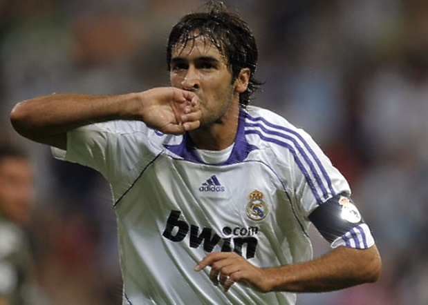 Raul scored 71 times in Europe. credit golo