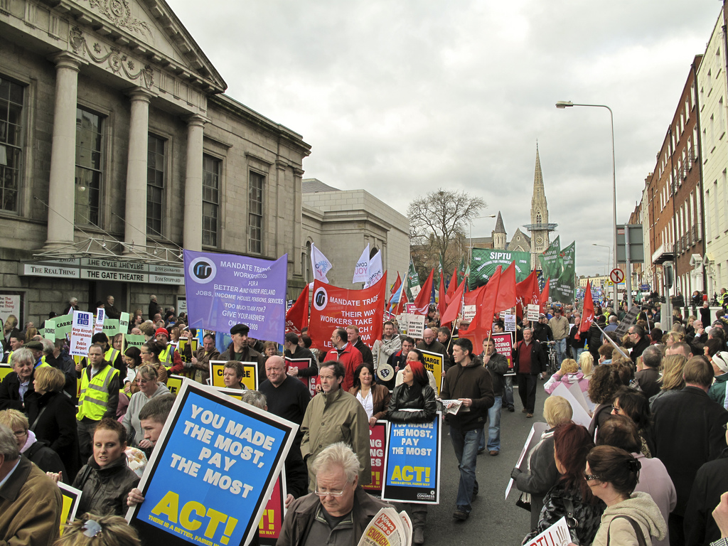 The people of Ireland protest against austerity in 2009 Photo: SebastianDooris on flickr