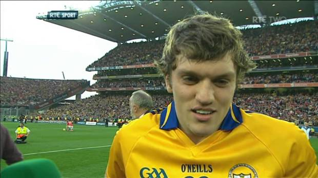 O'Donnell celebrates in the wake of Clare's All-Ireland victory [credit: rte.ie]