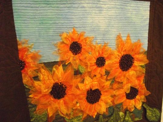 Moira's Sunflowers by Miriam Gogarty