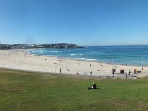 Sydney's Iconic Bondi beach in July.