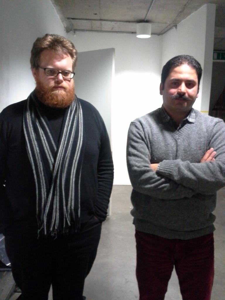 Le Cain and Rashidi at the Temple Bar Gallery + Studios Photo: by Maira De Gois