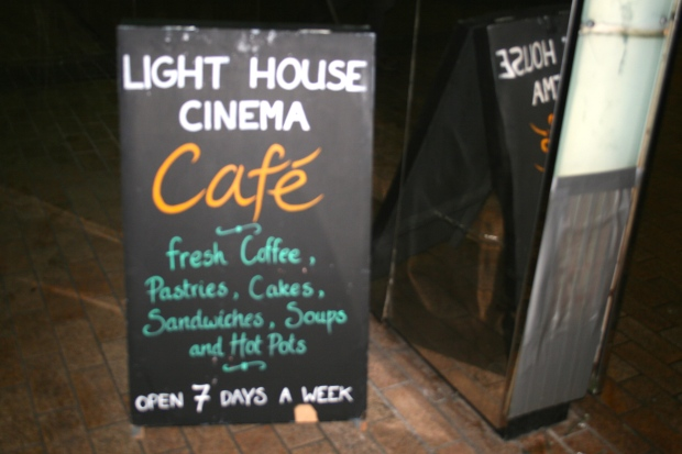Sign for Light House Cafe, Smithfield. Photo by Rachael Hussey