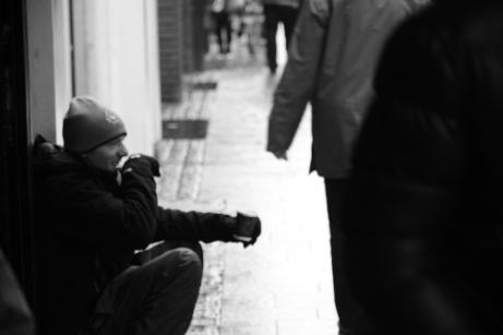 Homeless at Henry Street in Dublin. Photo by: Maira De Gois