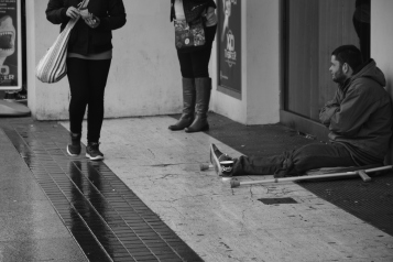 Due to their poor living conditions, some homeless people can suffer from mental illness such as depression, anxiety, schizophrenia and psychosis. Photo by: Maira De Gois