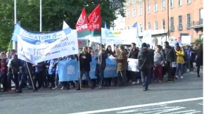 Students Take to Dublin's Streets against Third Level Fees