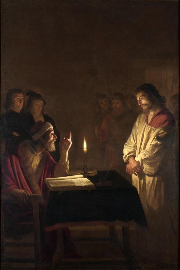 gerard_van_honthorst_-_christ_before_the_high_priest_-_wga11650