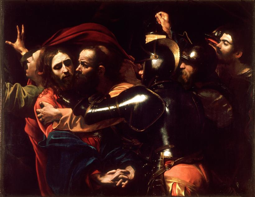 The Taking of Christ, 1602. Wikimedia Commons.