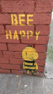 A Bee on Bishop Street Dublin, image by Hannah Lemass